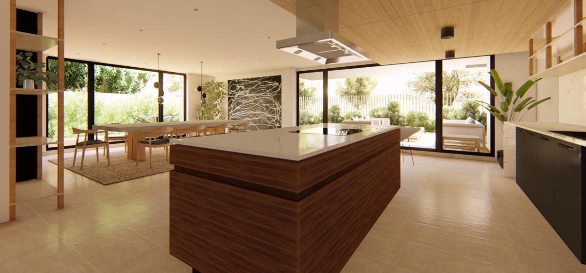 Sala multiuso proyecto inmobiliario edificio Isidora Concepción - Zonas comunes