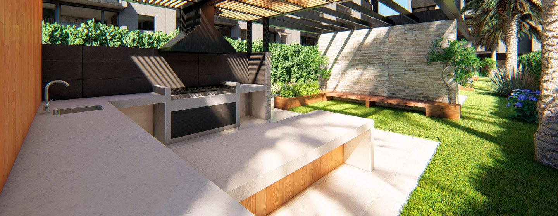Quincho patio exterior techado Edifico Momentum - Exterior
