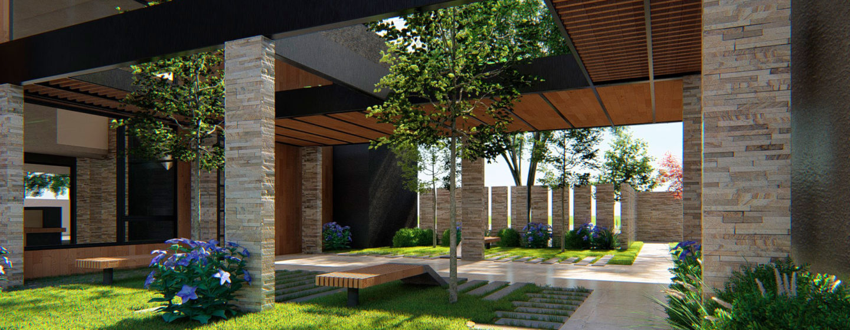 Patio y jardín techado exterior Edifico Momentum - Exterior