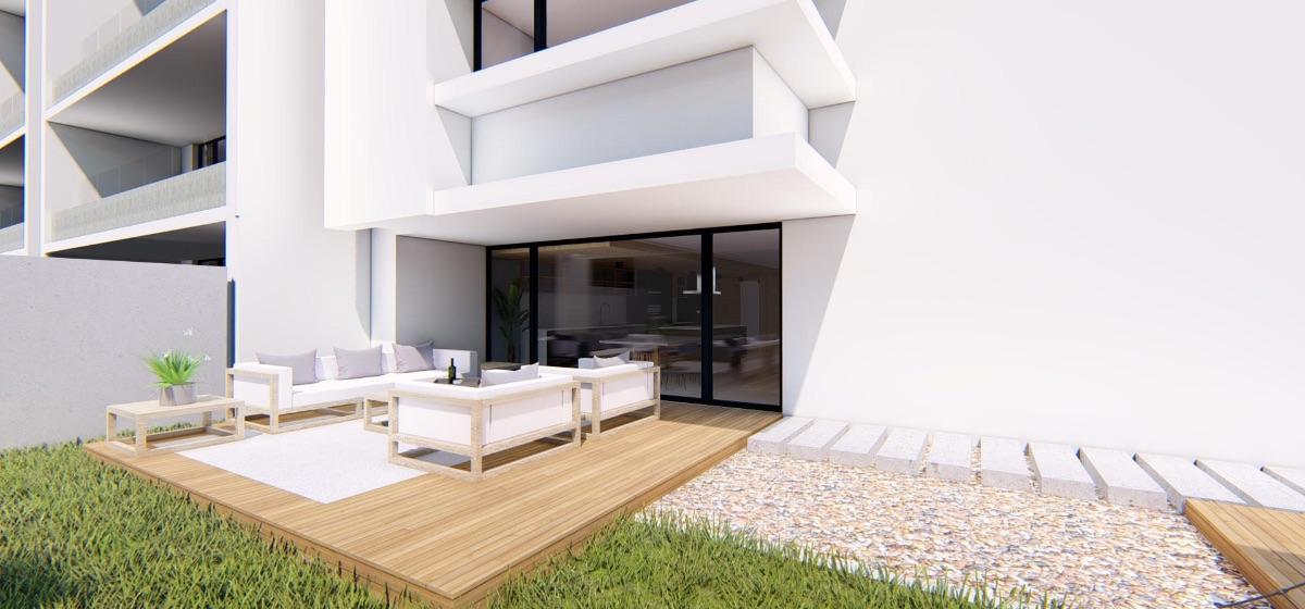 Patio privado proyecto inmobiliario edificio Isidora Concepción - Interior