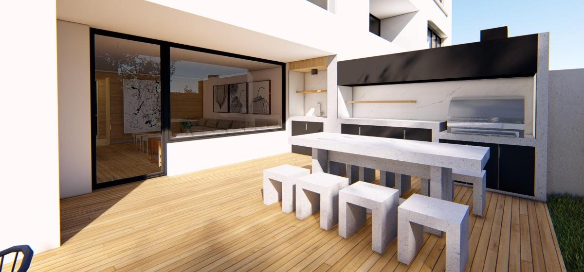 Terraza multiuso proyecto inmobiliario edificio Isidora Concepción - Zonas comunes